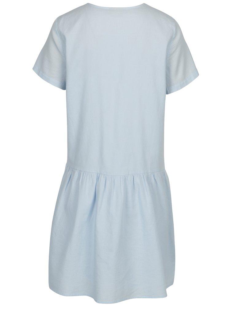 Světle modré šaty s volánem Noisy May Republique