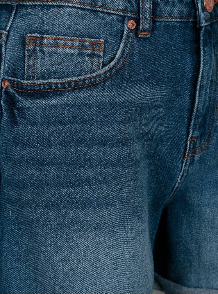 Pantaloni scurti albastri cu talie inalta - Noisy May Be LIv