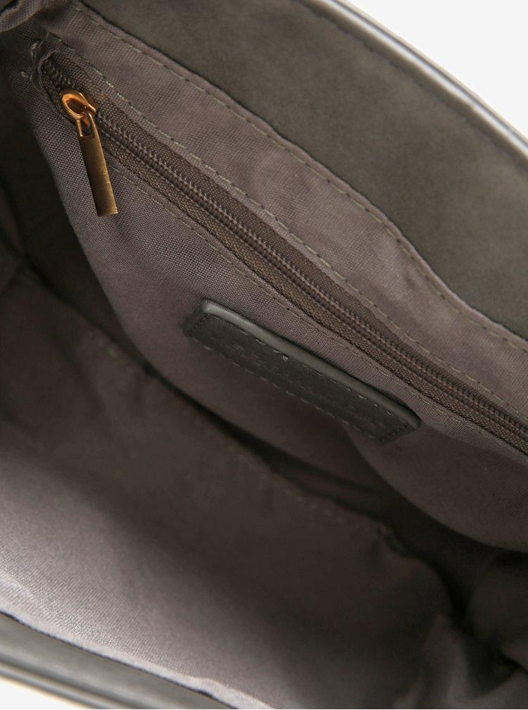 Šedá crossbody kabelka s detaily ve zlaté barvě VERO MODA Rina