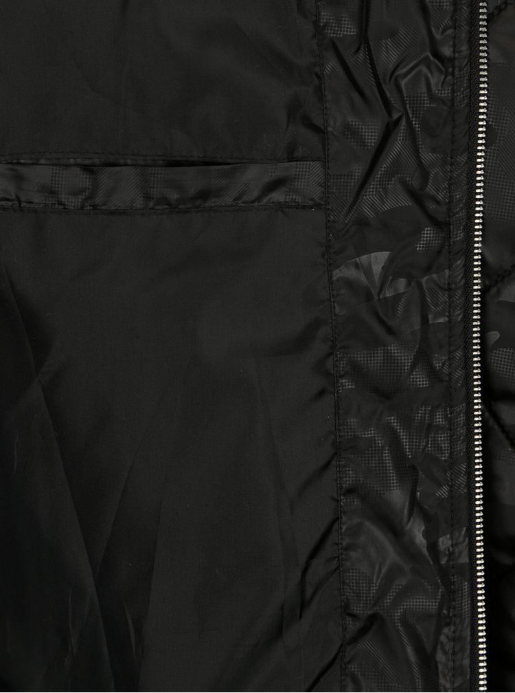 Černý pánský prošívaný bomber s jemným vzorem Broadway Georgia