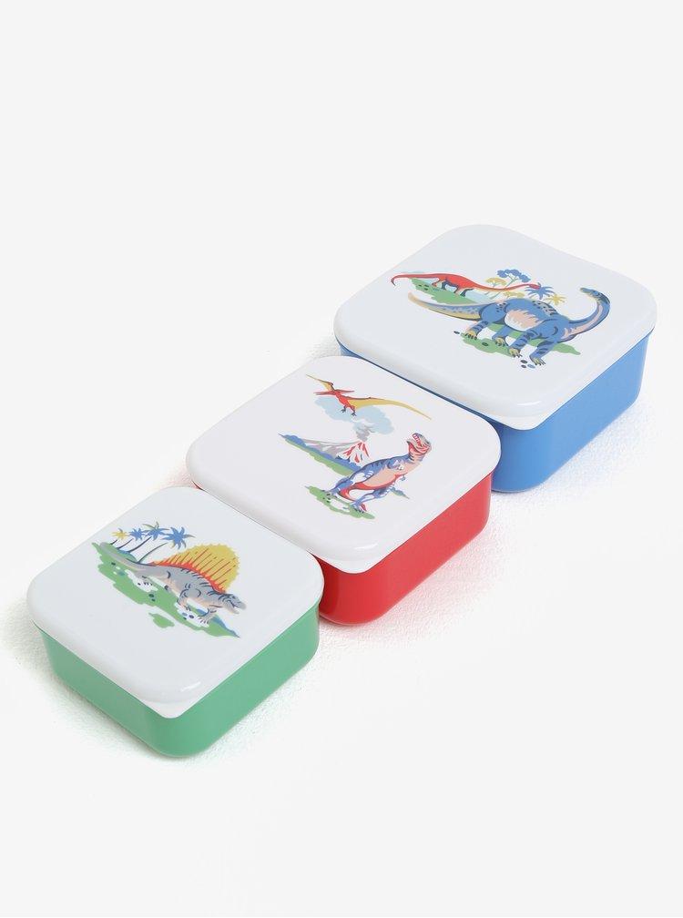 Sada tří dětských svačinových boxů v modré, červené a zelené barvě Cath Kidston