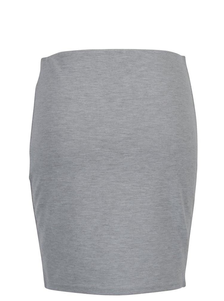 Světle šedá vzorovaná pouzdrová sukně Broadway Bobbi