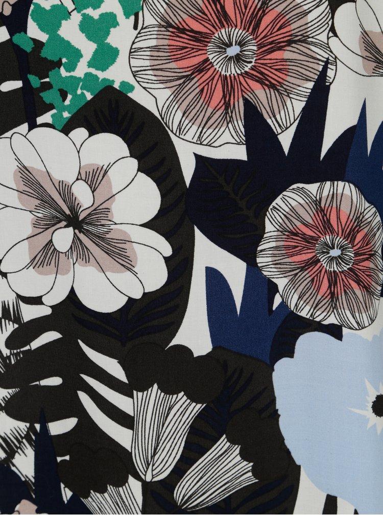 Černé květované šaty s 3/4 rukávem Broadway Oona