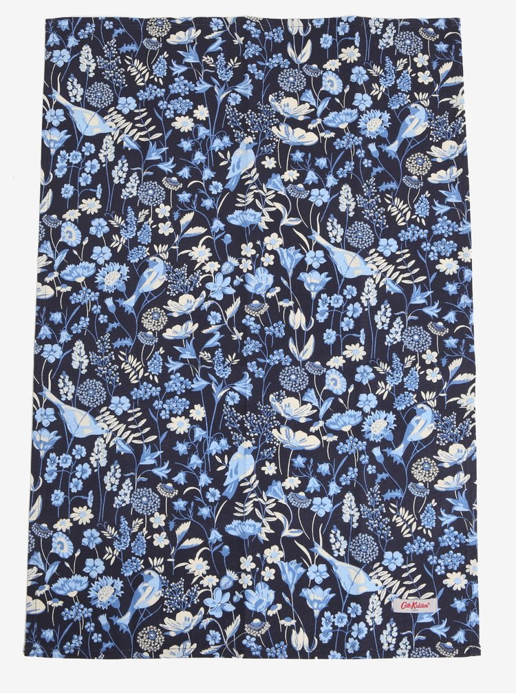 Sada dvou kuchyňských květovaných utěrek v modré a krémové barvě Cath Kidston