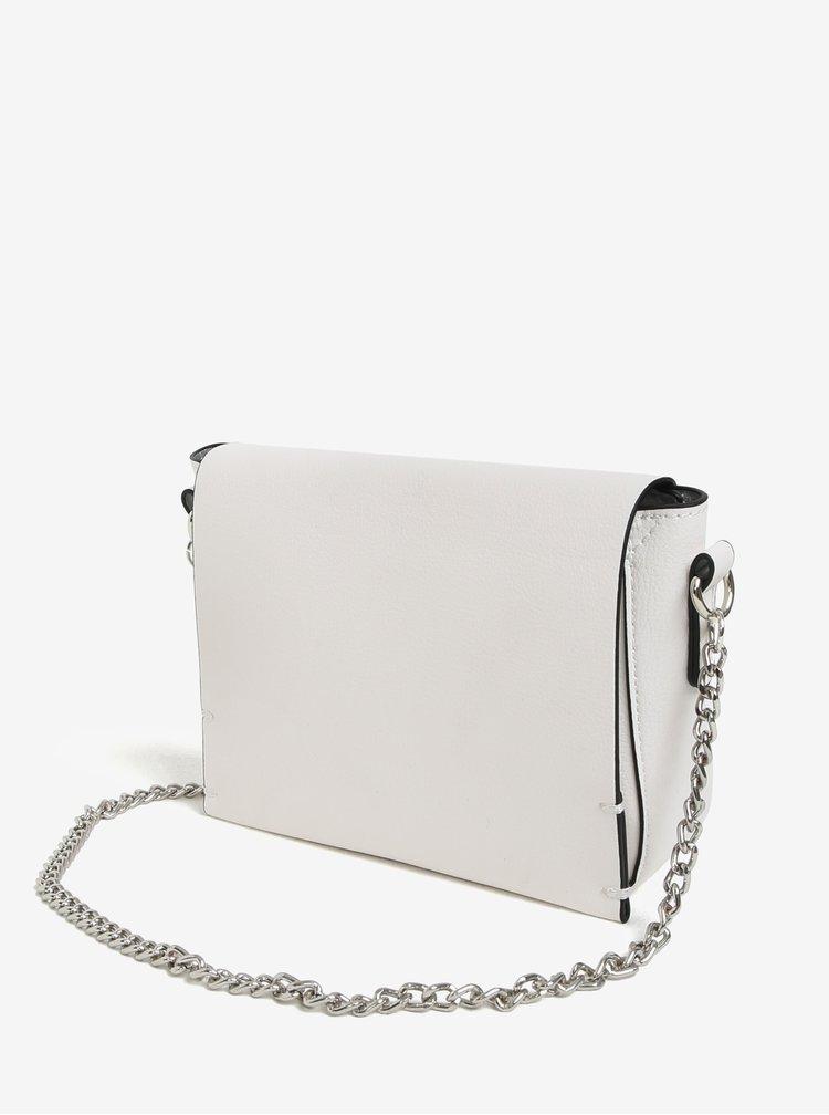 Bílá crossbody kabelka s řetízkem Miss Selfridge
