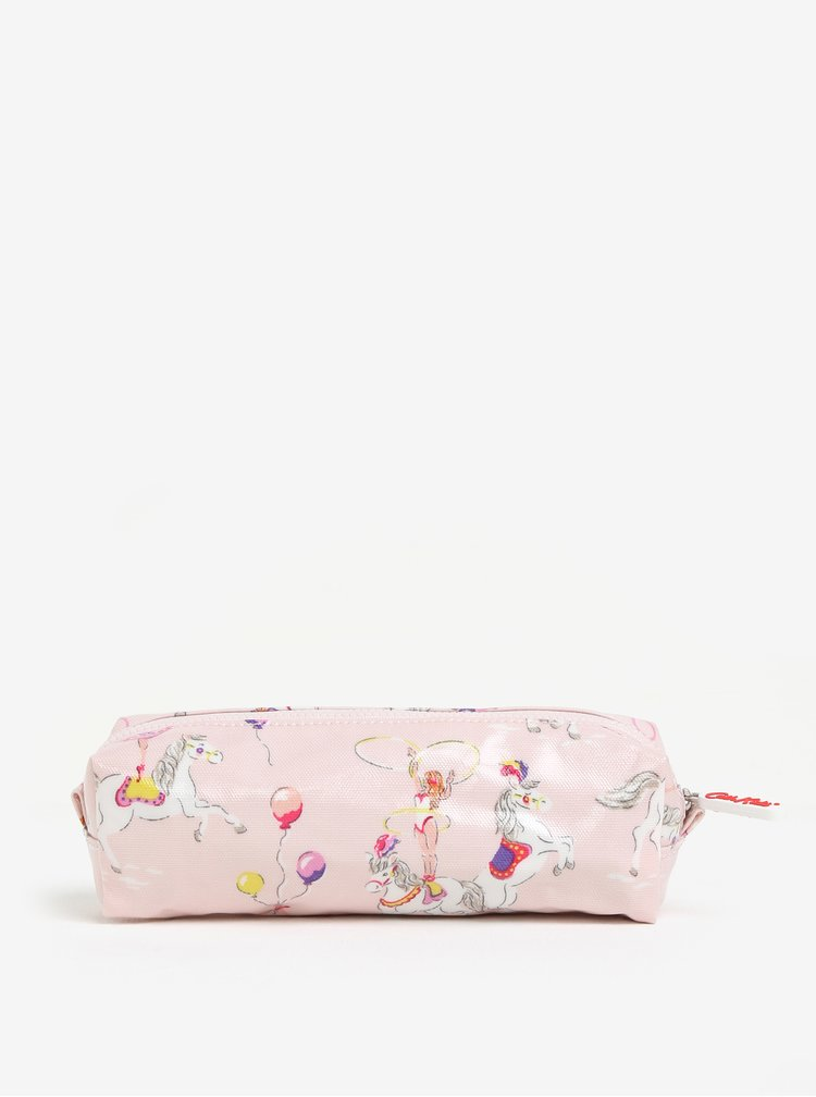 Růžový holčičí vzorovaný penál Cath Kidston