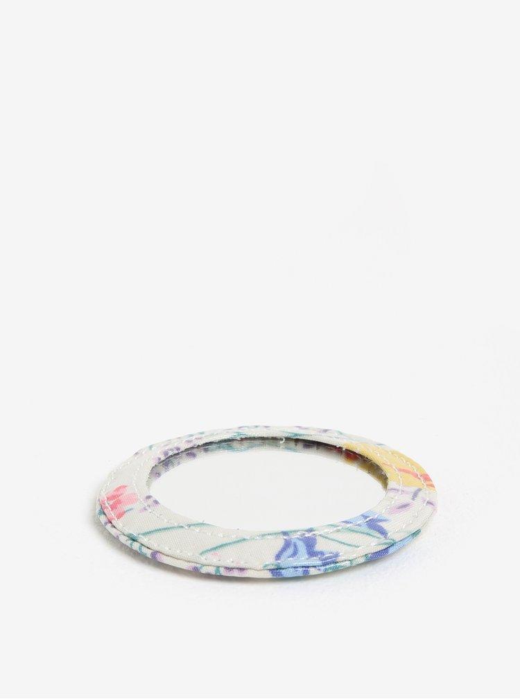 Krémová květovaná kosmetická taštička se zrcátkem Cath Kidston