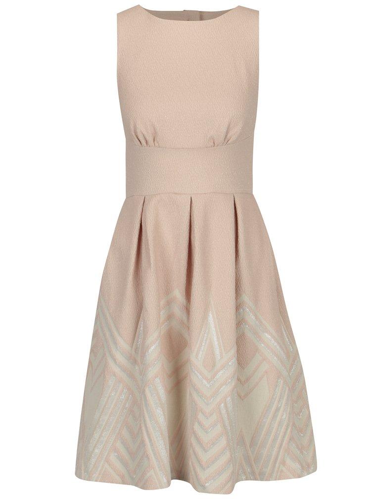 Světle růžové šaty se vzorovanou sukní Closet