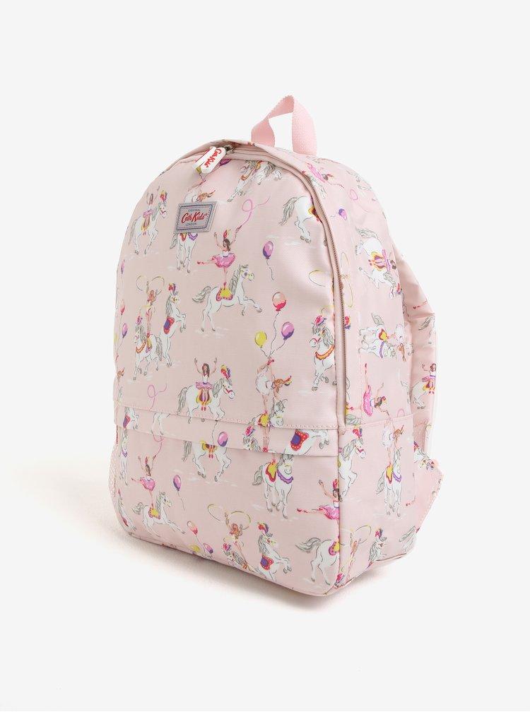Světle růžový holčičí batoh s potiskem Cath Kidston