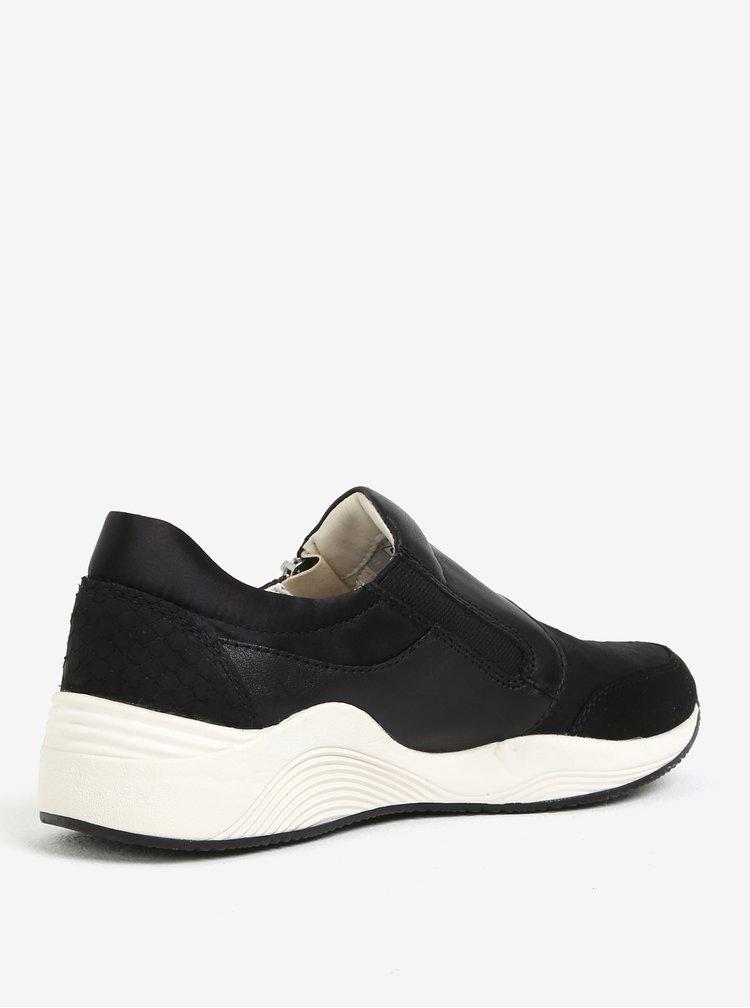 Černé dámské kožené tenisky Geox Omaya