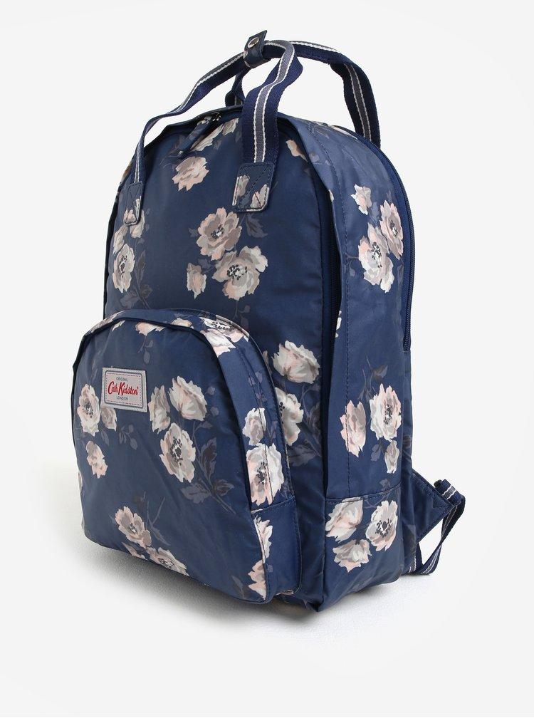Tmavě modrý dámský květovaný batoh Cath Kidston