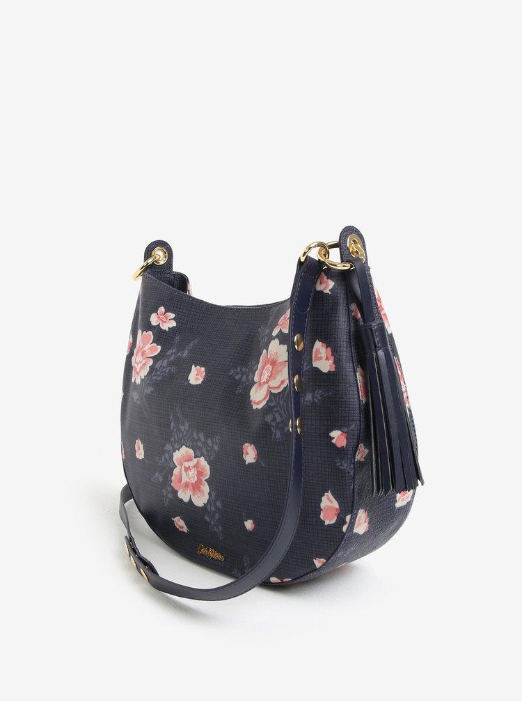 Tmavě modrá květovaná kabelka s třásněmi Cath Kidston