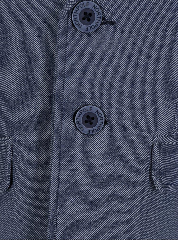 Modré klučičí sako s jemným vzorem North Pole Kids