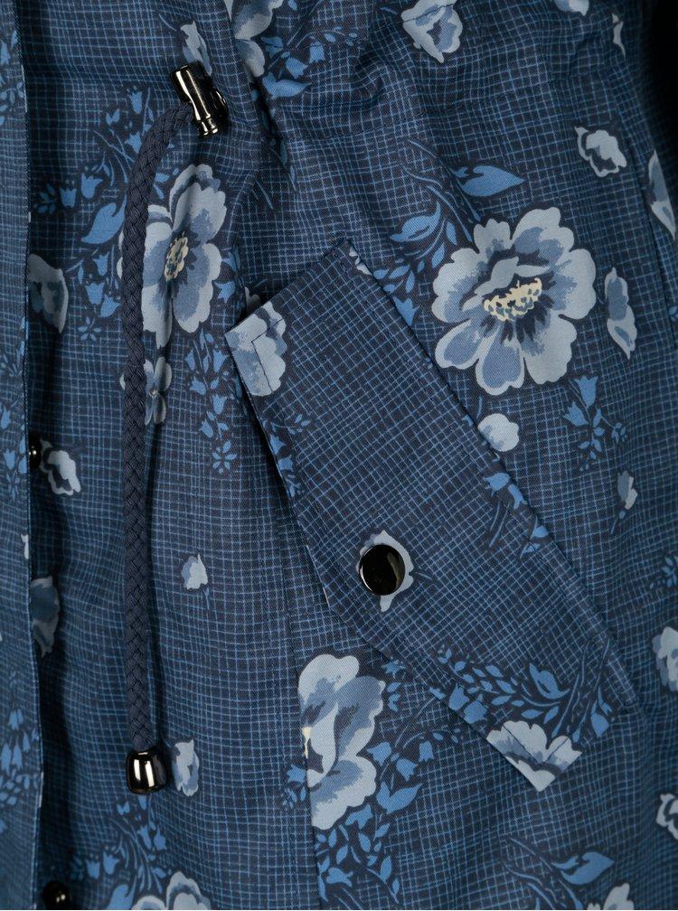 Tmavě modrá květovaná parka s kapucí Cath Kidston