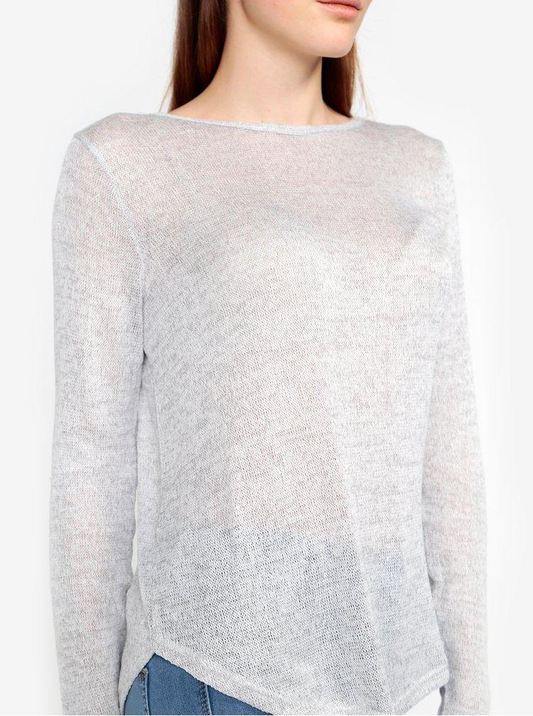Svetlosivý tenký sveter VERO MODA New Ewa
