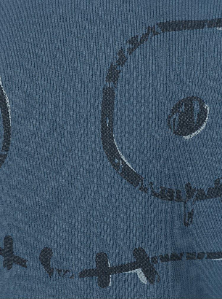 Modrá klučičí mikina s potiskem small rags Gustav
