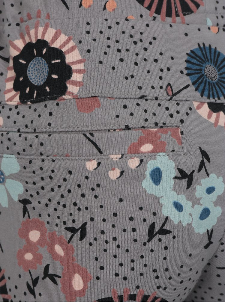 Šedé vzorované holčičí tepláky small rags Gerda