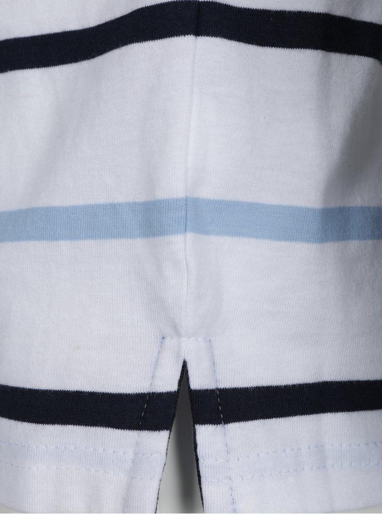 Modro-bílé pruhované klučičí polo tričko North Pole Kids