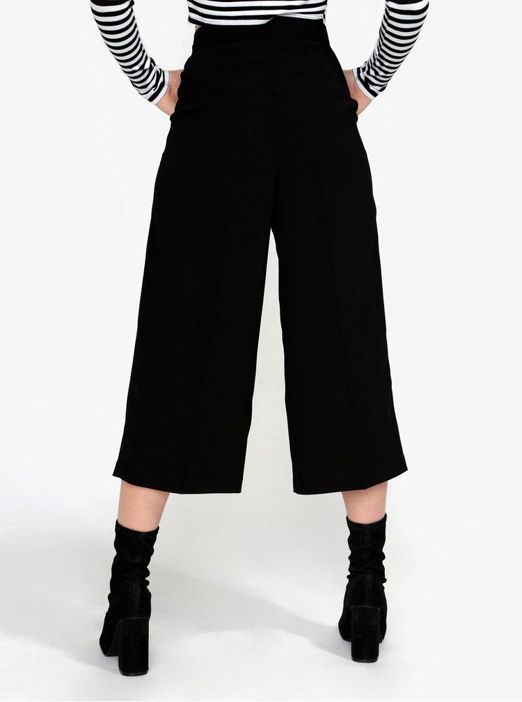 Pantaloni culottes negri - VERO MODA Janjuli