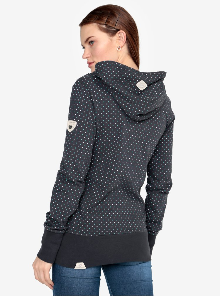 Tmavě šedá puntíkovaná mikina Ragwear Chelsea Dots