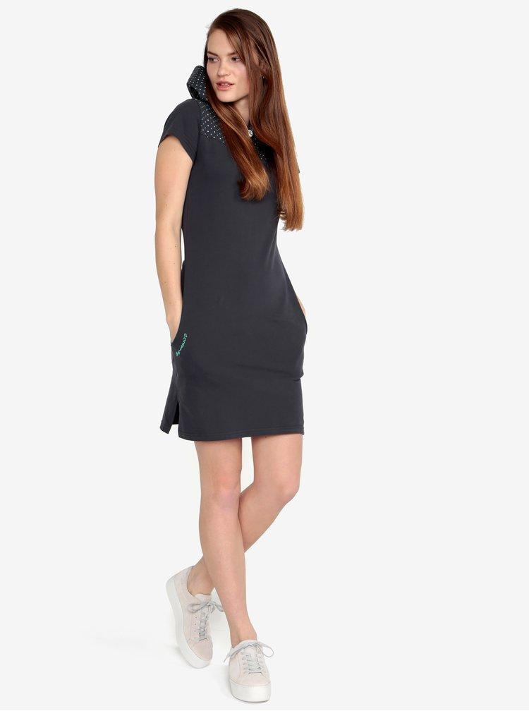 Tmavě šedé šaty Ragwear Chelsea Dress