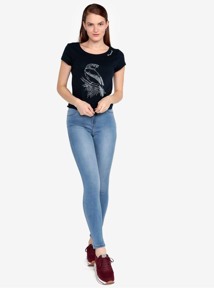 Tmavě modré tričko s potiskem Ragwear Mint B Organic