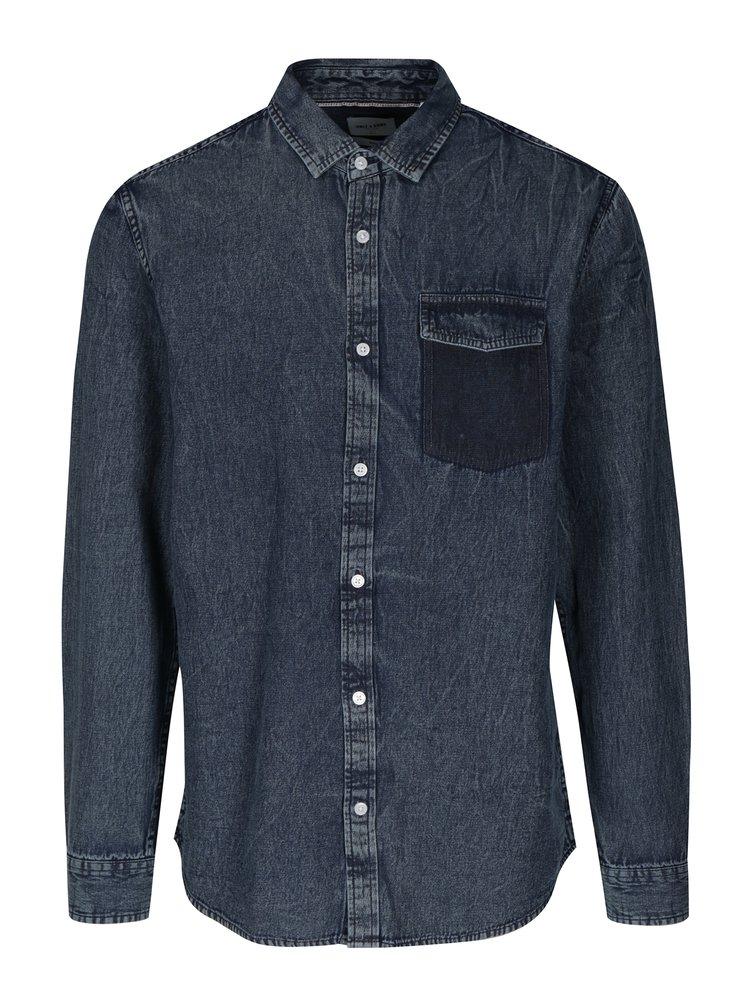 Modrá džínová regular košile ONLY & SONS Neville