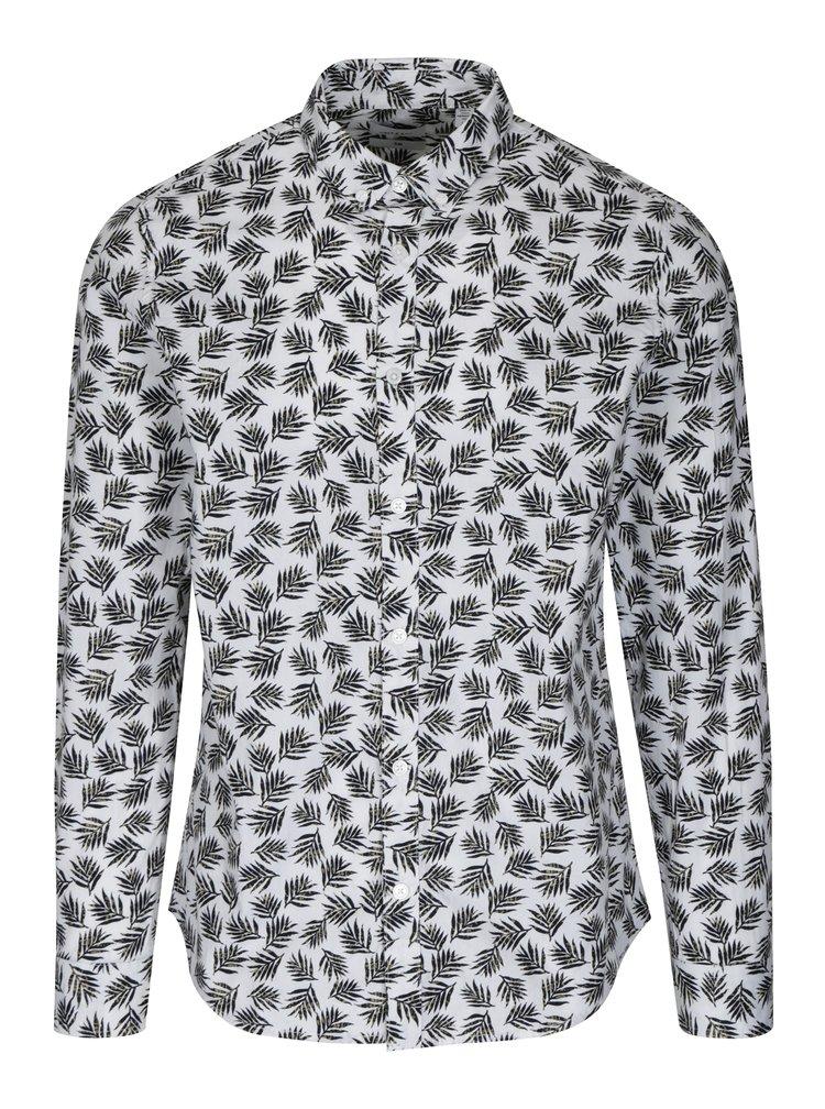 Černo-bílá vzorovaná slim fit košile ONLY & SONS Torres