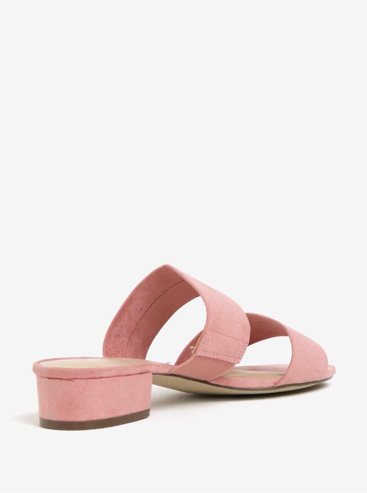 Růžové pantofle Dorothy Perkins