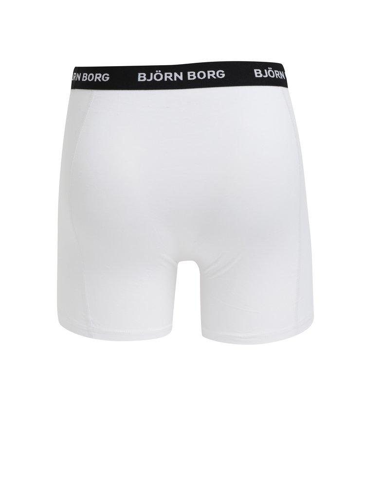 Sada tří boxerek v bílé barvě Björn Borg
