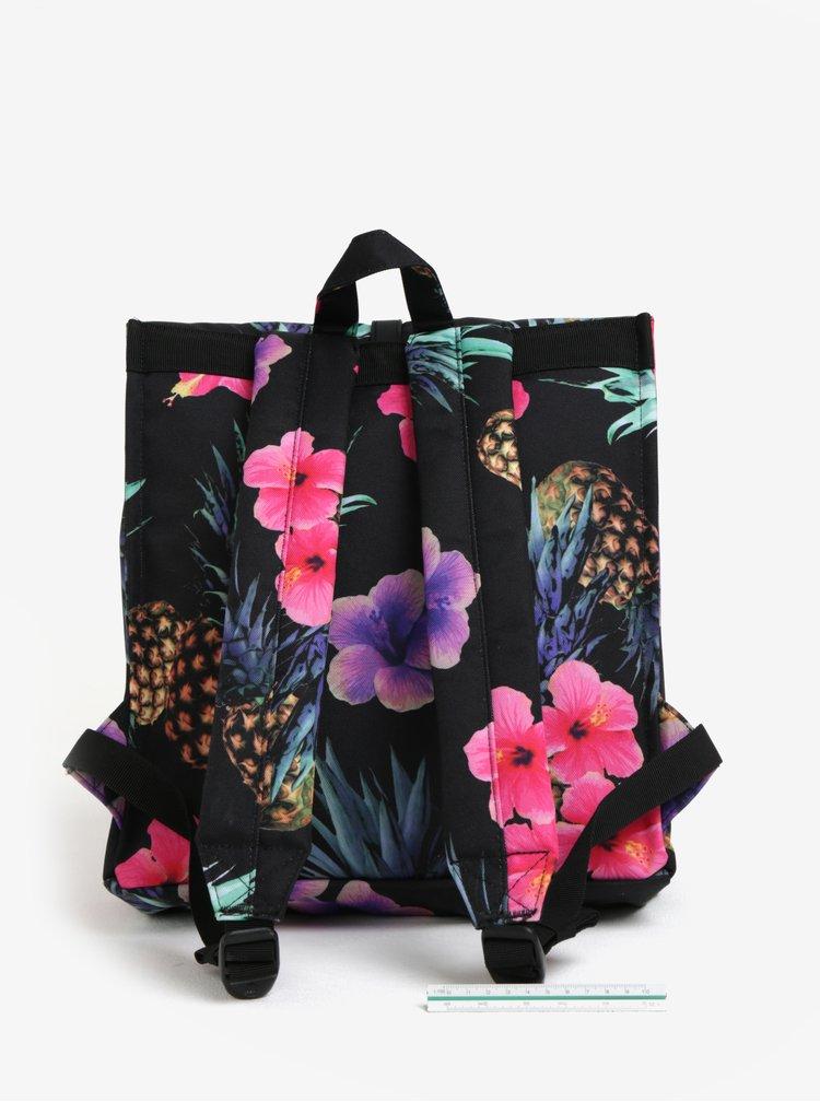Růžovo-černý dámský vzorovaný batoh Herschel City Mid-Volume 14 l