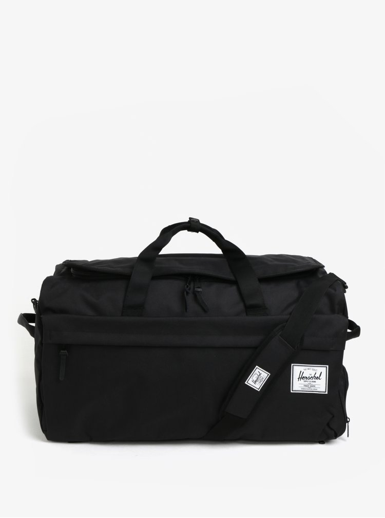 Černá cestovní taška s ramenními popruhy Herschel Outfitter 63 l