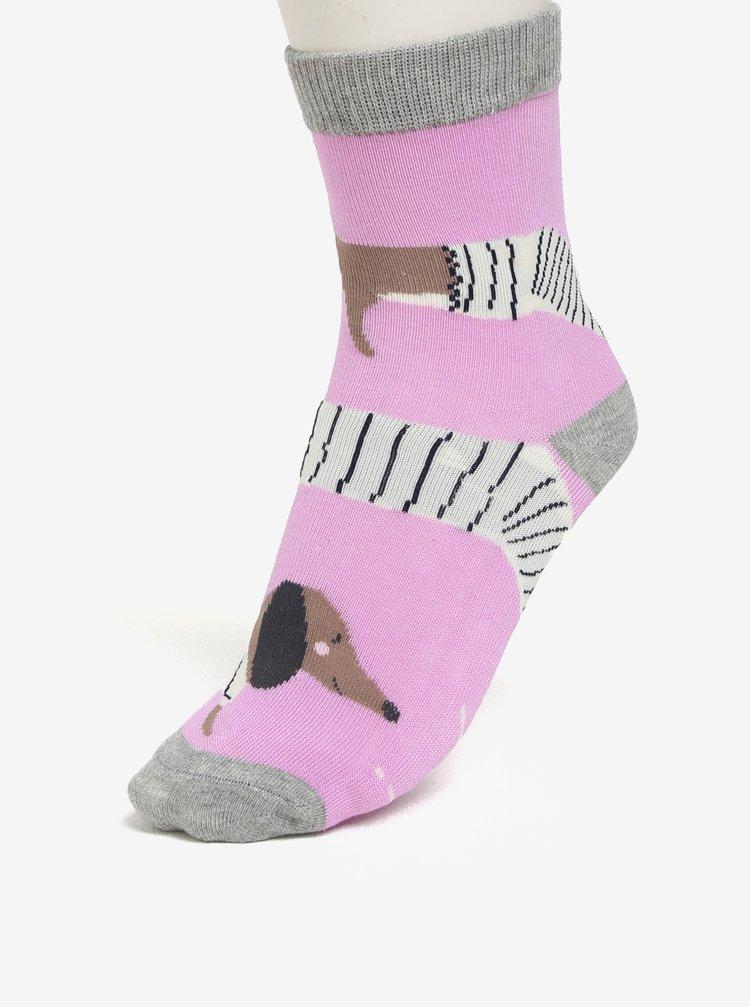 Sada tří párů holčičích ponožek s motivem psů Tom Joule Brilliant