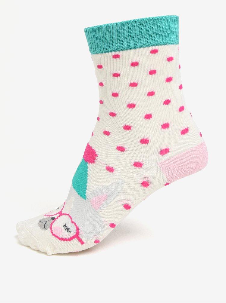Sada tří párů holčičích ponožek s motivem zvířat Tom Joule Brilliant