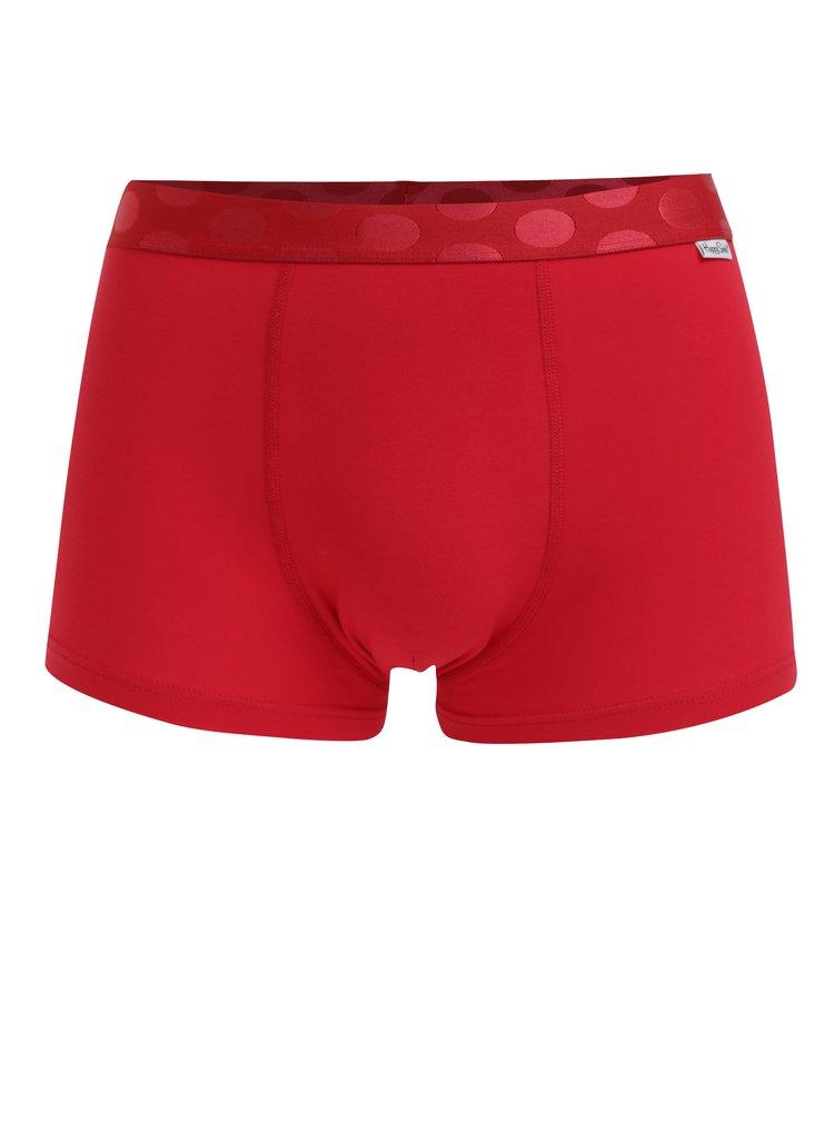 Sada tří pánských boxerek v modré, červené a černé barvě Happy Socks Solid