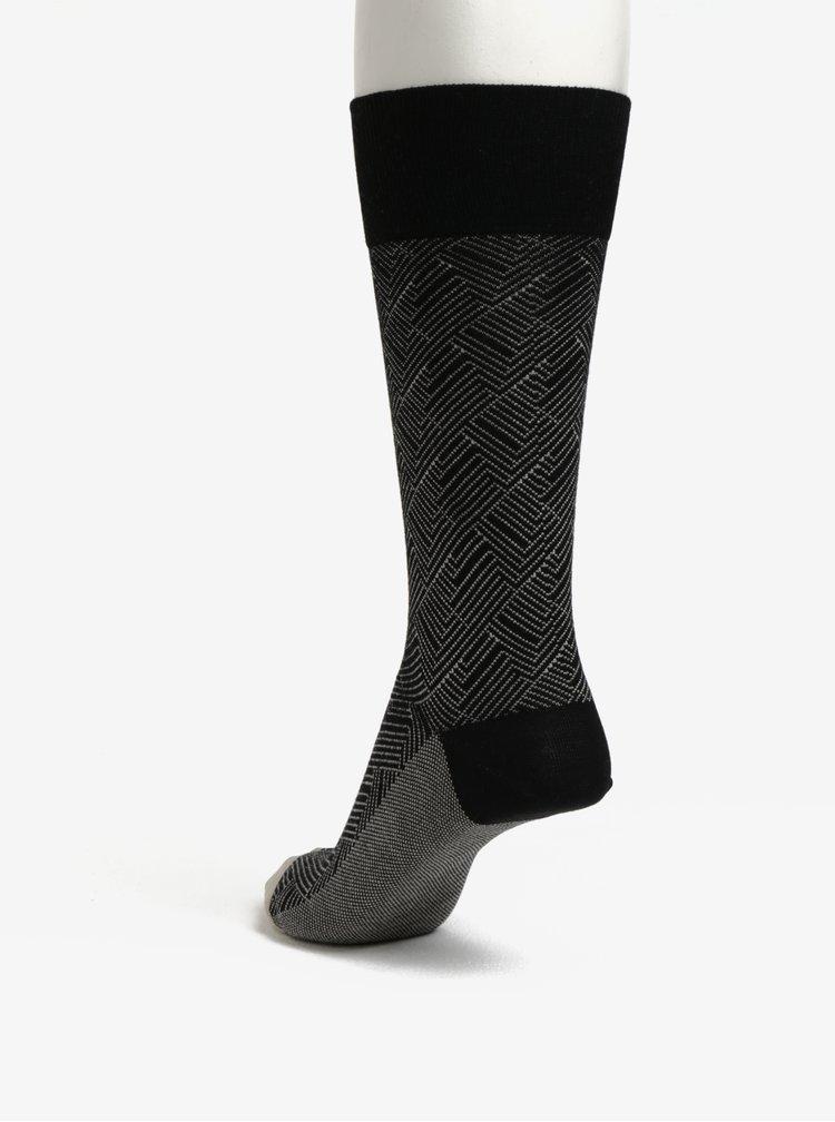 Černé vzorované unisex ponožky Happy Socks Circuit