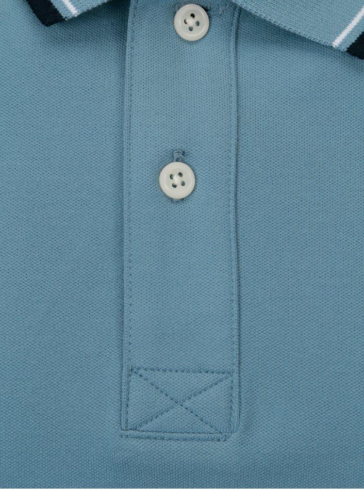 Modré polo tričko s výšivkou Selected Homme Newseason