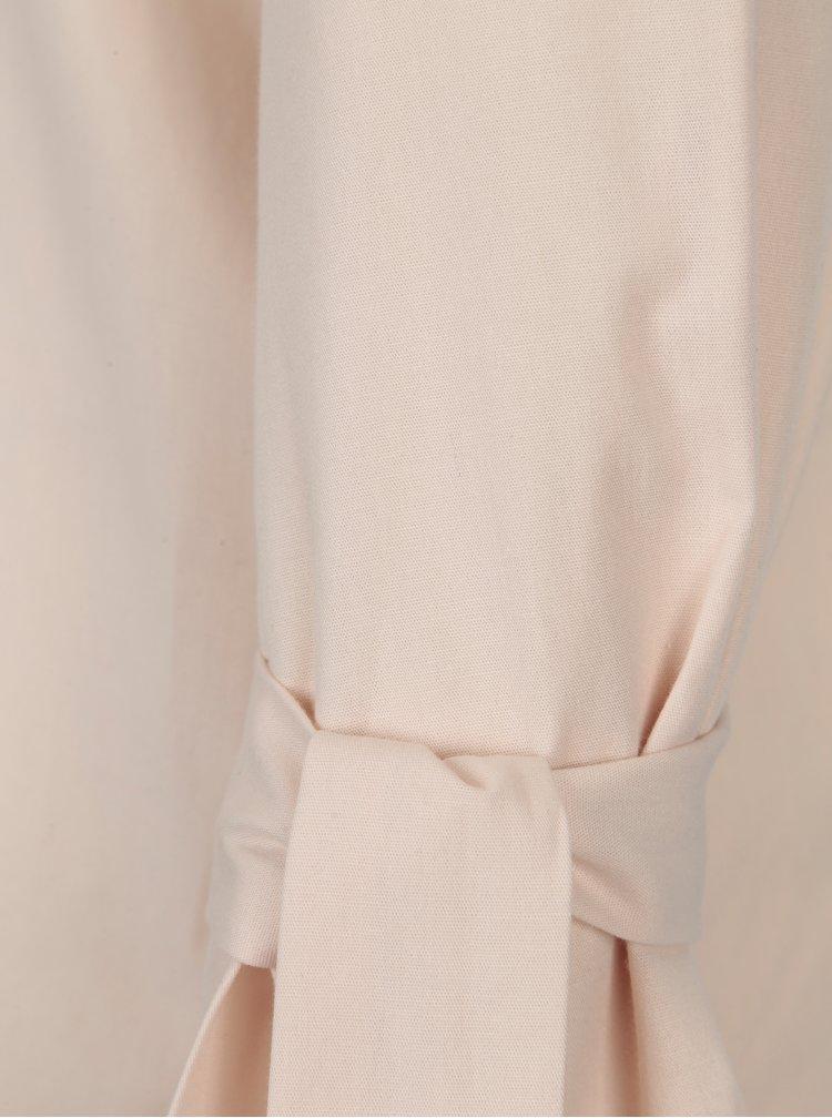 Světle růžová halenka se zvonovými rukávy VILA Jenner