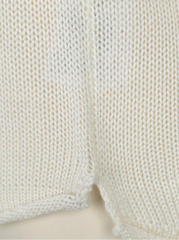 Krémový svetr s véčkovým výstřihem VILA Tobina