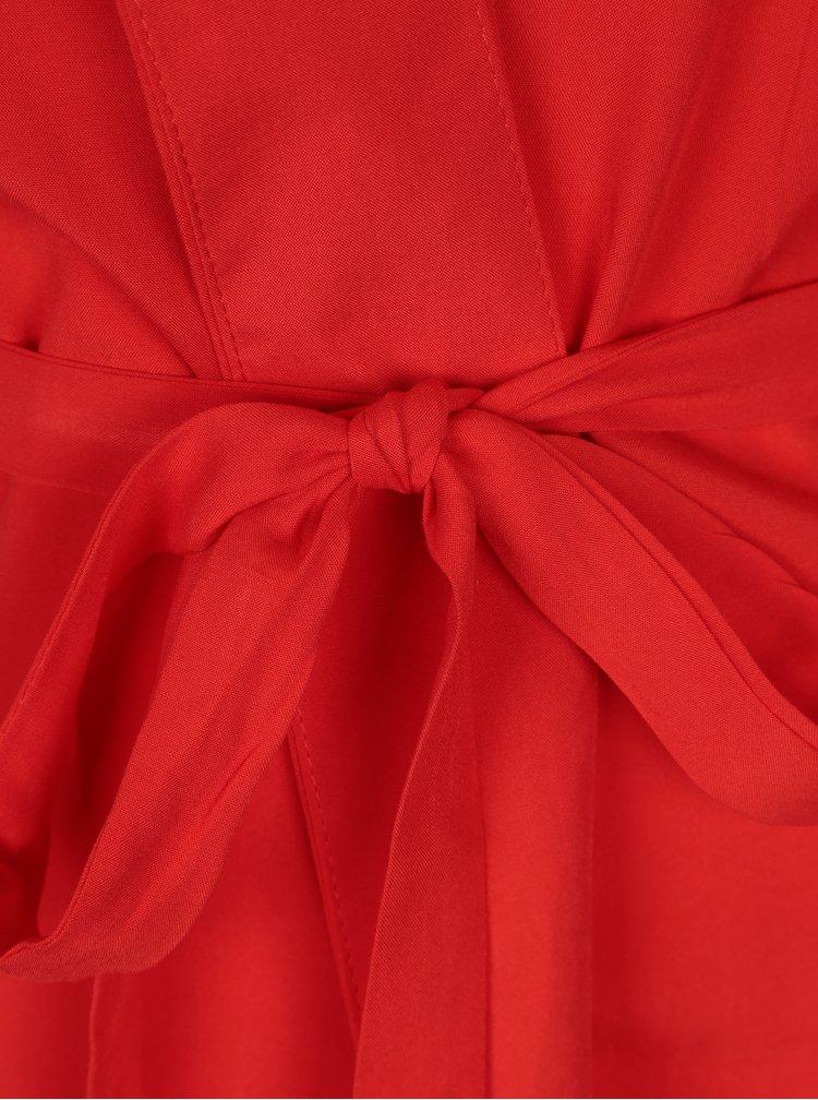 Červené kimono s páskem ONLY Nova