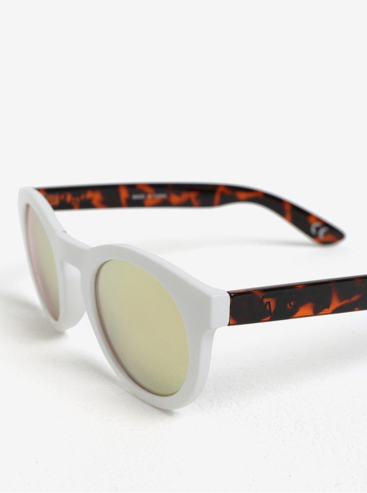 Hnědo-bílé dámské sluneční brýle VANS Lolligagger