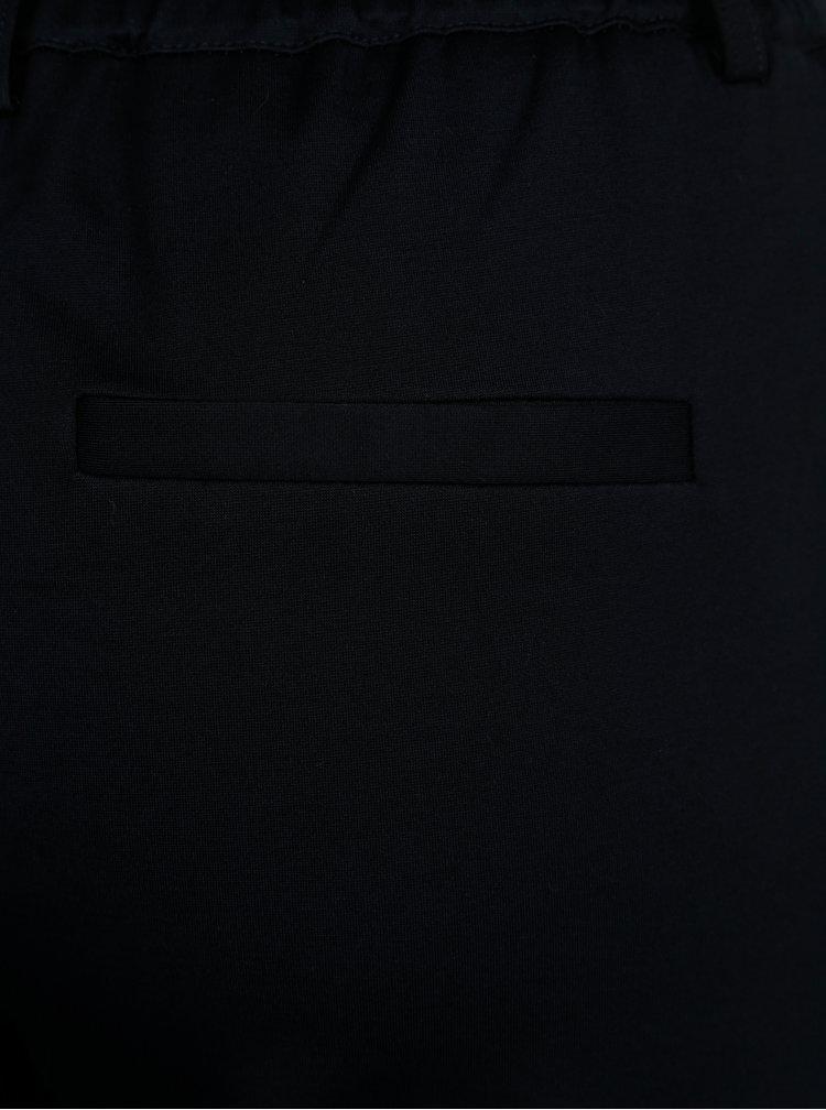 Tmavě modré kalhoty s pruhy ve stříbrné barvě ONLY Poptrash