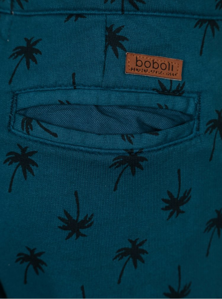 Tmavě modré klučičí vzorované kalhoty Bóboli