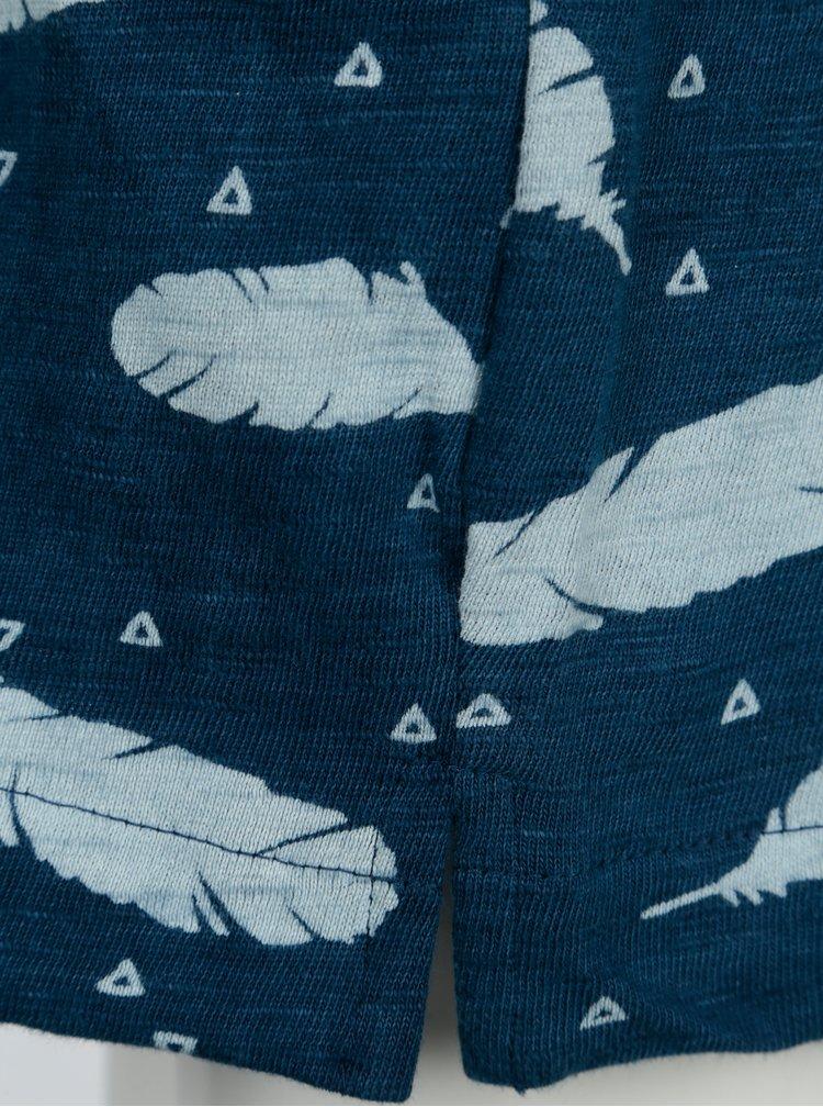 Tmavě modré šaty s potiskem a kapsami Bóboli