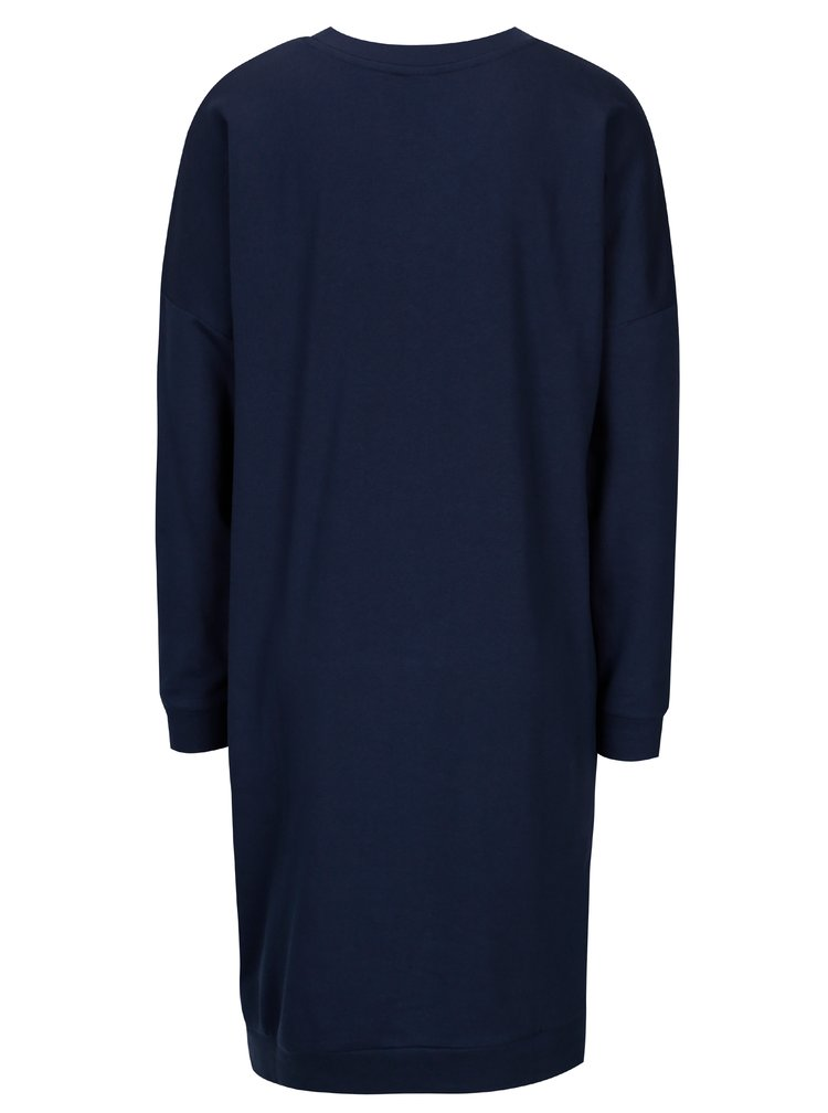 Tmavě modré mikinové šaty s potiskem Jacqueline de Yong Newton