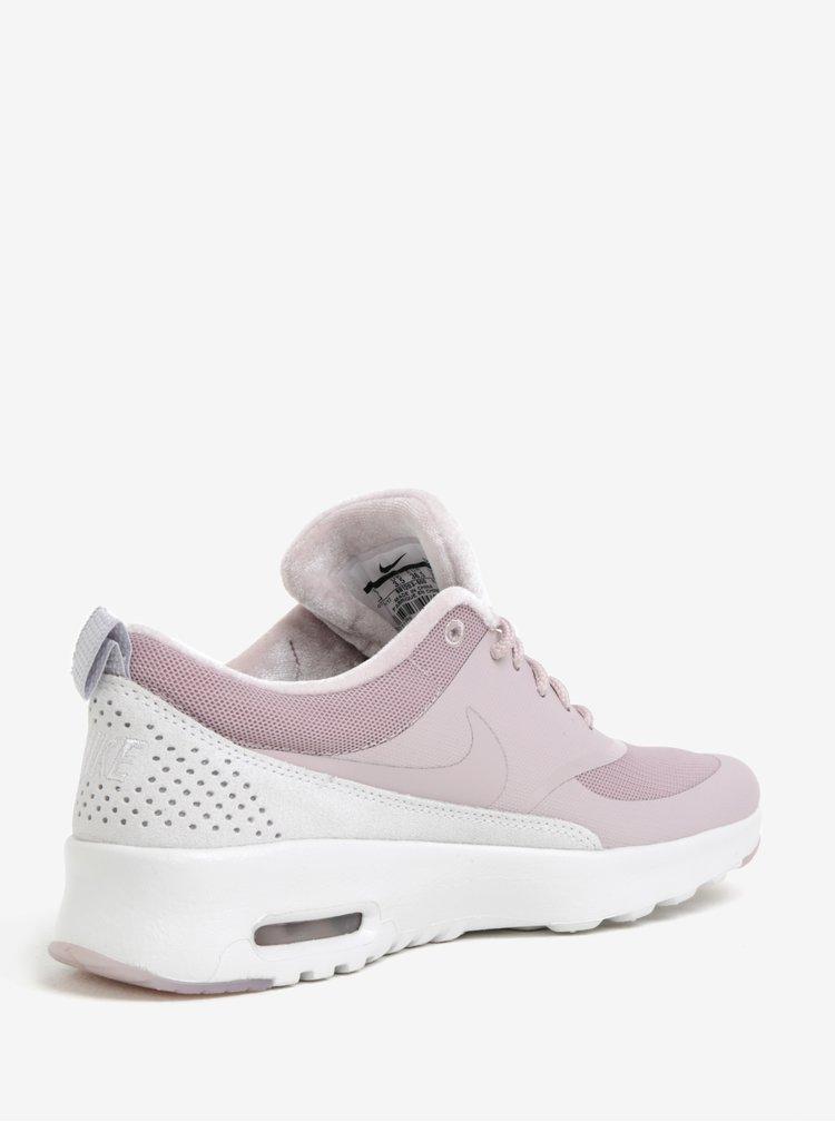 Světle růžové dámské tenisky se semišovými detaily Nike Air Max Thea