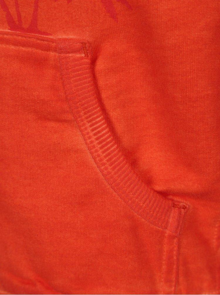 Oranžová klučičí mikina s potiskem na zip Bóboli