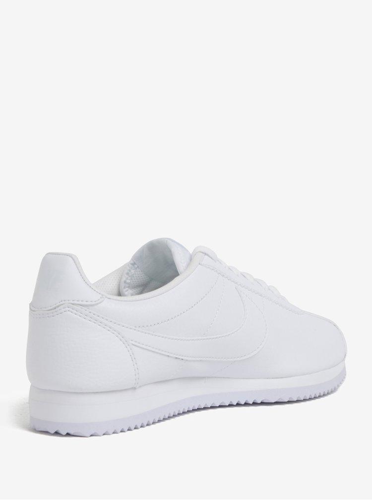 Bílé pánské kožené tenisky Nike Classic Cortez