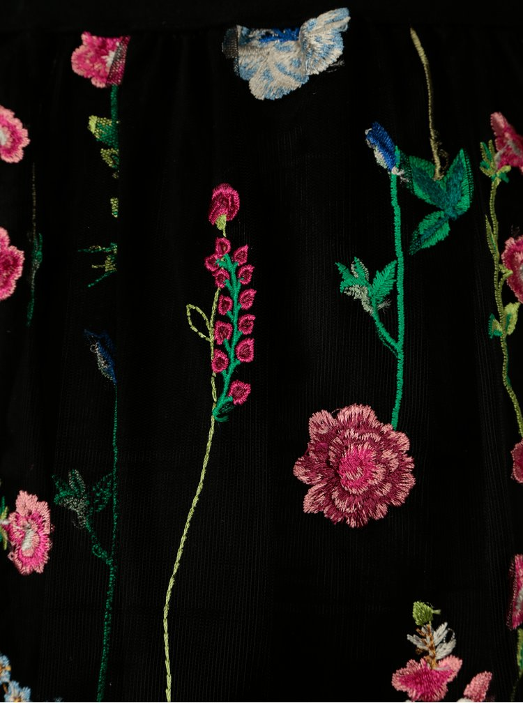 Černá tylová sukně s výšivkou ONLY Viva