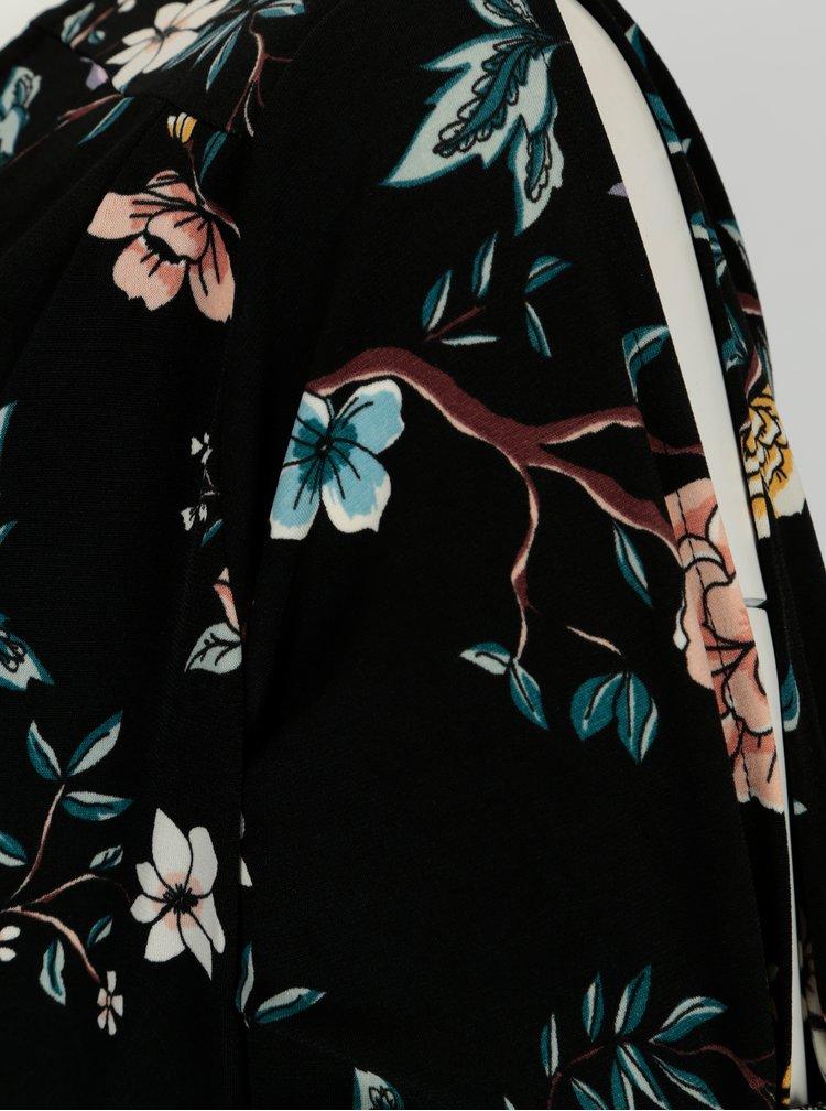 Černý květovaný overal Dorothy Perkins Curve